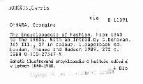 The Encyclopaedia of Fashion.