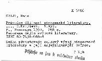 Průvodce dějinami nizozemské literatury