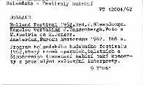 Holland Festival 1962
