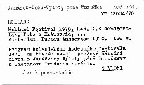 Holland Festival 1970