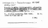 Soupis českých bibliografií, slovníků a