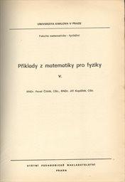 Příklady z matematiky pro fyziky                         (5)