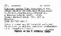 Žákovská knížka Žáka Jaroslava