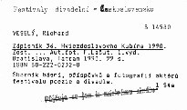 Zápisník 36. Hviezdoslavovho Kubína 1990