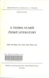 Z teorie starší české literatury