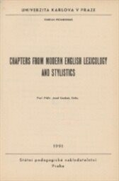 Chapters from Modern English Lexicology and Stylistics