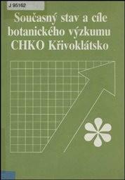 Současný stav a cíle botanického výzkumu CHKO Křivoklátsko