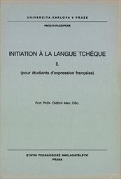 Initiation a la langue tcheque                         (2)