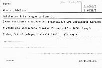 Initiation a la langue tcheque                         (2)