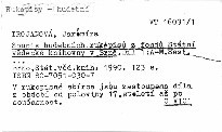 Soupis hudebních rukopisů z fondů Státní knihovny v Brně