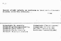 Archaeologia historica 14/89; Archaeologia historica