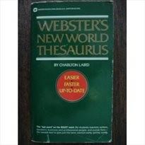 Webster's New World Thesaurus.