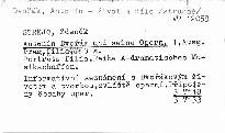 Antonín Dvořák und seine Opern