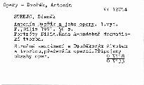 Antonín Dvořák a jeho opery
