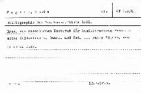 Bibliographie des Musikschrifttums 1981