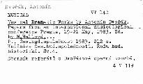 Musical Dramatic Works by Antonín Dvořák