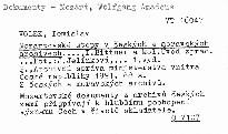 Mozartovské stopy v českých a moravských archivech