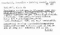 Catalogue analytique de l'oeuvre pour clavier de D. Scarlatti