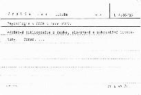 Psychologie v ČSSR v roce 1989