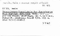 Thematisches Verzeichnis der Jugendwerke Béla Bartóks 1890-1904