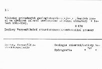 Nové poznatky o karlovarské zřídelní struktuře