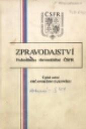 Zpravodajství Federálního shromáždění ČSFR