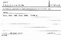 Přírůstky hudebnin v československých knihovnách