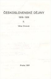 Československé dějiny 1919-1939                         ([Díl] 2)