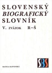 Slovenský biografický slovník                         (Zv. 5,)