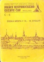 Česká města v 16.-18. století