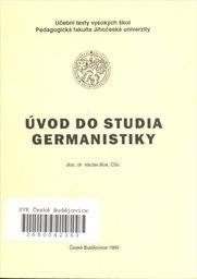 Úvod do studia germanistiky