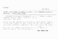 Vztahy dělnického a demokratického hnutí Československa a Německa v letech 1917-1945                         (Díl 1)