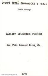 Základy sociologie politiky