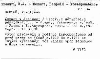 Mozart v dopisech