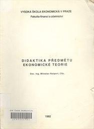 Didaktika předmětu ekonomické teorie