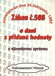 Zákon č. 588 České národní rady ze dne 24. listopadu 1992 o dani z přidané hodnoty
