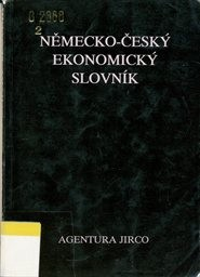 Německo-český ekonomický slovník