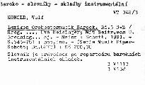 Lexikon Orchestermusik Barock                         ([Bd.3] S-Z)