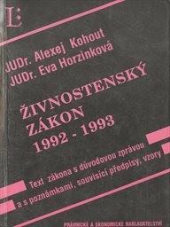Živnostenský zákon 1992-1993