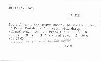 Pocta Johannu Sebastianu Bachovi na jevišti