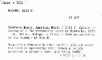 Southern Music, American Music