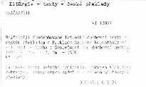 Nejčastěji zhudebňované latinské duchovní texty s českým překladem