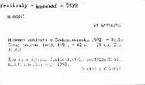 Hudební události v Československu 1992
