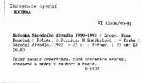 Ročenka Národního divadla 1990-1991