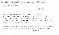 Wagner Werk-Verzeichnis (WWV)