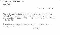 Výroční zpráva Konservatoře v Brně za školní rok 1992/1993