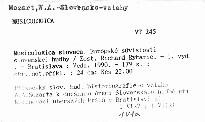 Musicologica slovaca