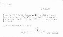 Katalog her s malým obsazením Dilia 1992
