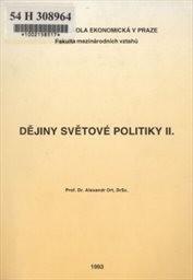 Dějiny světové politiky                         ([Část] 2)