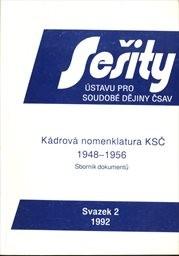 Kádrová nomenklatura KSČ 1948-1956